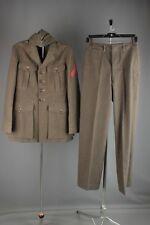 Vtg Men's WWII USMC Marine Corps Uniform Jacket sz S Pants 29x32 Hat 6 7/8 #4761