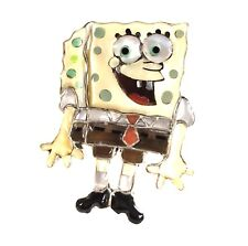 Zuni Handmade Sterling Silver Full Body Inlay Spongebob Ring - Don Dewa