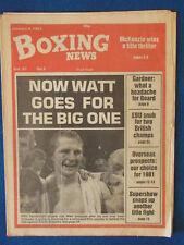 Boxing News Magazine - 9/1/81 - Jim Watt Cover