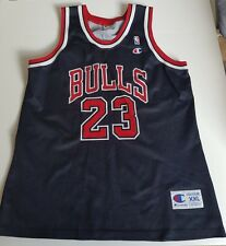 Champion Michael Jordan Gr. XXL Schwarz Bulls NBA Trikot Air Basketball Jersey