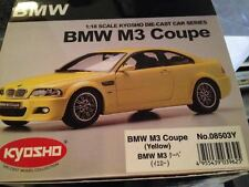 KYOSHO BMW 3 SERIES M3 COUPE E46 YELLOW METALLIC K08503Y 1:18*Very Rare!