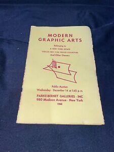 """Modern Graphic Arts"" 1960 Parke-Bernet Art Auction Catalog ~ Paintings ++"