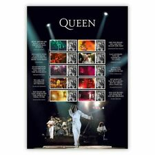 Great Britain 2020 Queen Music Giants Live Collector's Sheet A4 MUH
