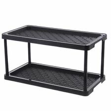 2-Tier Boot Shoe Organizer Tray Mat Multi Purpose Floors Clean Dry Rain Snow