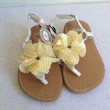 Stepping Stones Yellow Poca Dot Flip-flop Sandals Size 6 18-24M