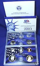 2003-s U.S. Proof Set. Complete and Original in BLUE  mint paper box