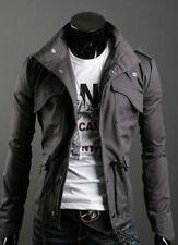 Men's Slim Fit Street Style Jacket Medium Large Grey Black Brand New