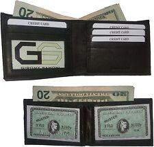 Men's wallet. 2-in-1 Genuine Leather man's wallet 3 ID case 3 billfold ID wallet