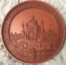 Rare Bronze Souvenir Á L'Exposition Universalle D'Anvers 1885 Medal, Leopold II