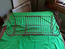 New listing Expandable Free-standing Metal Red Apple Dish Drying Rack