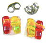 """DICHROIC GLASS EARRINGS Post Tiny 1/4"""" 10mm Red Yellow Orange Rock Candy Fused"""