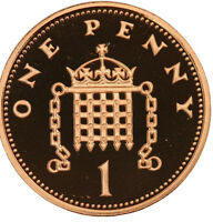 PROOF ENGLISH DECIMAL ONE PENCE PENNY 1ps COINS CHOICE OF DATE 1971-2015
