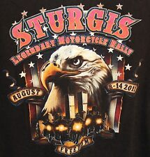 STURGIS  SD 71st Annual  MOTORCYCLE RALLY 2011 Mens T- Shirt Size XXL EAGLE