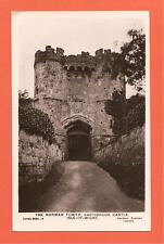 The Norman Tower, Carisbrook Castle, Isle - of - Wight Postcard. 1908.