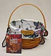 Longaberger 2002 Woven Memories Tour Basket w/ Liner and Protector Take a Look!