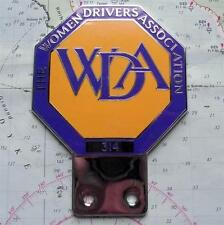 Old Vintage Car Mascot Badge  : The Women Drivers Association No 314 by Pinches