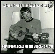Men's Ladies T SHIRT star trek funny spoof SPOCK guitar cowboy Nimoy space