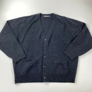 Brooks Brothers Charcoal Gray British Lambswool Cardigan Sweater size XL