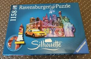 Ravensburger Silhouette Puzzle New York City 1158 Pieces **RARE**