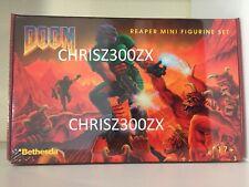 Doom Reaper Miniature Pewter Figure SET 15 Piece /w Doom Box - NEW Bethesda