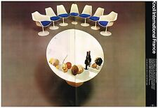 Publicité Advertising 1974 (2 pages) tables et sièges par Eero Saarinen Knoll