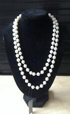"48""Very Long Pearl Bead Rope Necklace Vintage Wedding Bridal Costume UK SELLER"