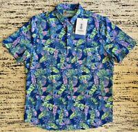 Chubbies Weekend Shirt Mens XL Blue Green New