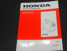 HONDA generator EU10 i INSTRUKTIEBOEKJE
