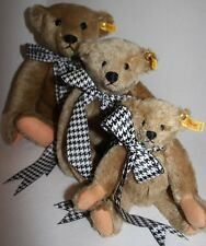 """Lot 3 Steiff Margaret Strong Bear Limited Edition 16"""" 12"""" 10"""" 0155/42 1982-1999"""