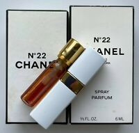 CHANEL NO 22 PARFUM SPRAY 6 ml 0.2 fl oz VINTAGE