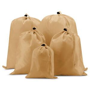 EAZY CASE 5x Suitcase Pack Bag Organizer Shoe Bag Laundry Bags Sack Braun