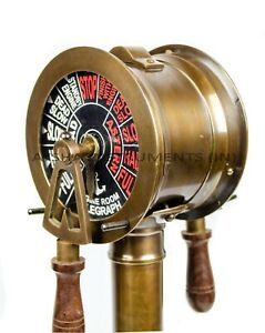 "14"" Nautical Maritime Brass Ship's Engine Order Telegraph Decorative Collectible"