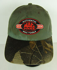 Mac Tools Hat Authentic Camo Baseball Style Cap Snap Back Clean Stained Spots