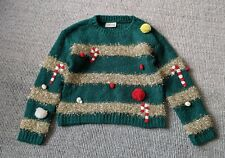 NEXT Green Knitted Christmas Tree Jumper Size 5-6 Years