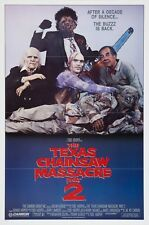THE TEXAS CHAINSAW MASSACRE PART 2 (1986) ORIGINAL FOLDED VERSION A MOVIE POSTER