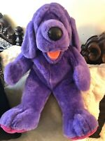 "Vintage 1998 Liberty Toy Purple Floppy Dog Plush 22"" Stuffed Animal/Huggable!"