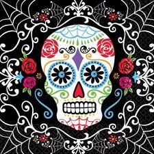 36pk Day of the Dead TOVAGLIOLI 36 CONF. 33cm Sugar Skull Halloween stoviglie