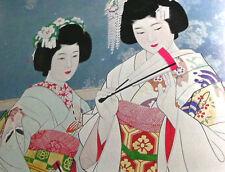 Japanese Paintings Bijinga Nihonga Art Book 5 Ito Shinsui Kimono Geisha Maiko