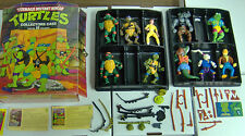 TEENAGE MUTANT NINJA TURTLES TMNT LOT WITH CASE, 10 FIGURES, OVER 30 ACCESSORIES