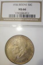 1936 Boone Commemorative Half Dollar 50C NGC MS66