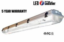 LED Garage Light 4' Utility Shoplight Room Work Light Fixture 5,300Lumens Strong