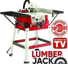 """Lumberjack 1800w 10"""" 250mm Bench Table Saw with Legstand Extensions & Blade 230v"""