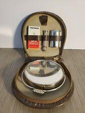 Vintage Gillette Razor Travel Shaving Kit Leather Western Germany