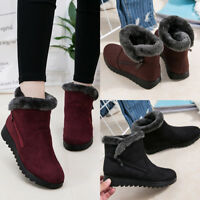Women Warm Snow Shoes Cotton Lineing Winter Ankle Boots Soft Sole Fluffy