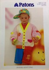 PATONS Children's Colour Block Cardigan KNITTING PATTERN Booklet 5168 -  1-11