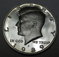 1989 S proof Kennedy half dollar coin fifty cents