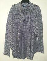 Polo Ralph Lauren Oxford Blake Men's XL Long Sleeve Button Down Shirt Blue Plaid