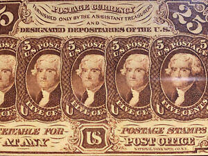 25 Cents First Issue Fractional Currency FR 1282 Straight Edge PMG 64 EPQ WOW