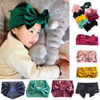 Baby Bowknot Headband Elastic Soft Velet Sewing Craft Head-Wrap Turban Gifts