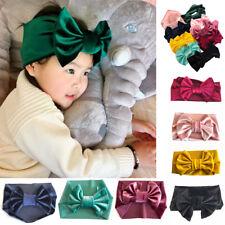 1X Pink-Soft Baby/ Kids Toddler Bow Hairband Headband Turban Big Knot Head-Wrap